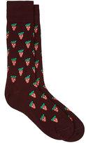 Paul Smith Men's Strawberry-Skull-Print Mid-Calf Socks