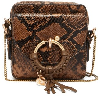 See by Chloe Joan Square Python-effect Leather Cross-body Bag - Python