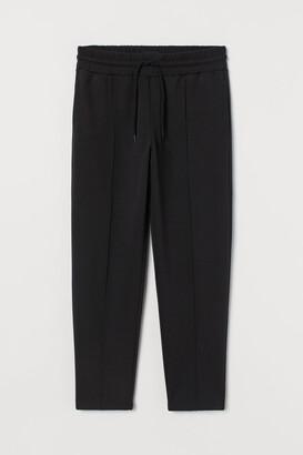 H&M Cropped Regular Fit Sweatpants - Black