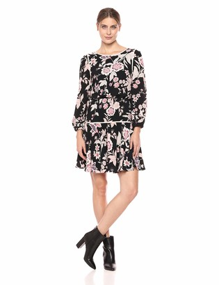 Eliza J Women's Size Floral Print Fit and Flare Dress