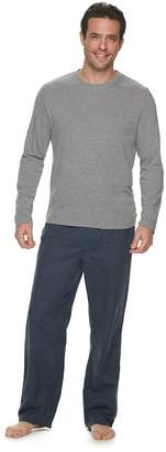 Croft & Barrow Men's Long Sleeve Tee & Flannel Pant Set
