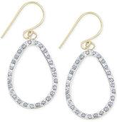 Macy's Diamond Accent Open Teardrop Earrings in 14k Gold