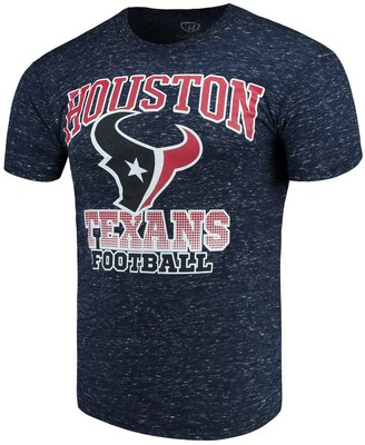 Men's G-III Sports by Carl Banks Navy Houston Texans Outfield Speckle T-Shirt