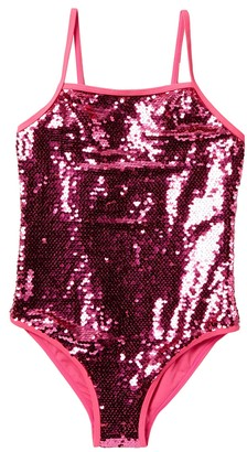 Juicy Couture Sequins One-Piece Swimsuit (Big Girls)