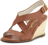 Bettye Muller Ponza Leather Espadrille Wedge Sandal, Amber