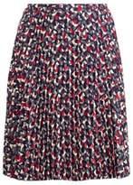 Ralph Lauren Pleated Crepe A-Line Skirt Multi 14