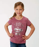 Roper Purple 'Everything Starts with a Dream' Tee - Girls