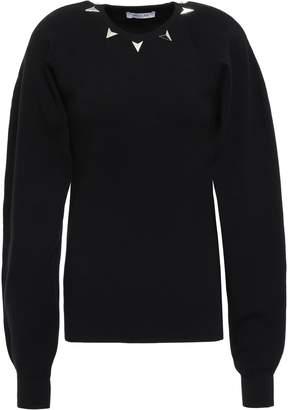 Thierry Mugler Studded Stretch-knit Sweater