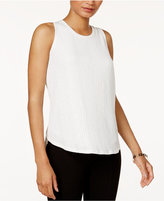 Bar III Pleated-Back Tank Top, Created for Macy's