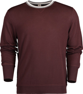 Eleventy Striped Fine Gauge Crewneck Sweater