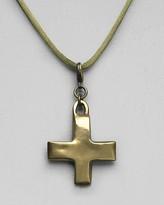 Robert Lee Morris for Elizabeth and James Large Plus Cross Charm Necklace