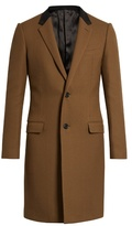 Lanvin Contrast-collar Single-breasted Coat