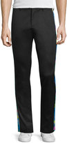 Moschino Slim Jeans W/Contrast Outseam, Black/Multi