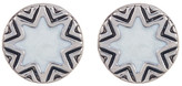 House Of Harlow Imitation Pearl Sunburst & Engraved Stud Earrings