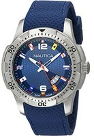 Nautica Men's NAD13515G NCS 16 Flag Analog Display Japanese Quartz Blue Watch