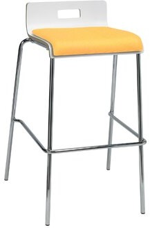 "Latitude Run Winhall Low Back 30"" Bar Stool Finish: Daffodil/White"