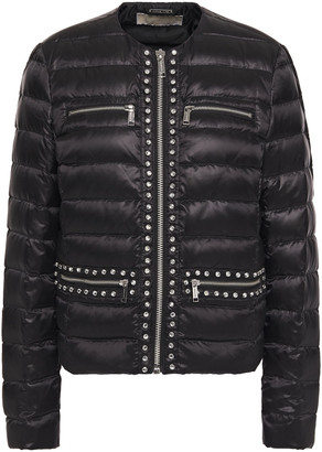 MICHAEL Michael Kors Crystal-embellished Quilted Shell Down Jacket
