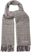 Balenciaga Prince of Wales-checked scarf