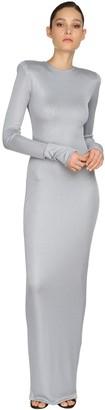 Alexandre Vauthier Rib Jersey Lame Long Dress