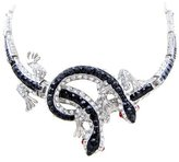 Butler & Wilson Jet & Crystal Lizard Necklace