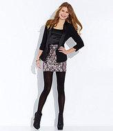 Lily White Stoosh 3/4-Sleeve Blazer & Sequin Scallop Miniskirt