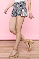 Flying Tomato Navy Print Shorts
