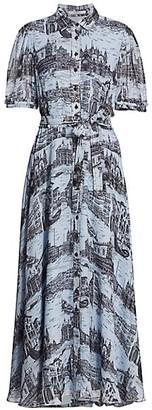 Derek Lam 10 Crosby Faye Print Shirtdress