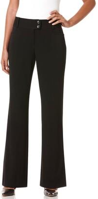 Rafaella Women's Petite Curvy Fit Gabardine Trouser