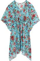 Dolce & Gabbana Printed Silk-blend Chiffon Kaftan - Blue
