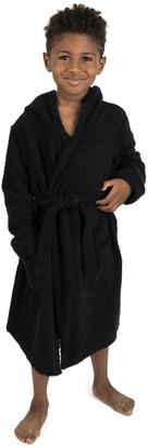 Leveret Black Bathrobe (Baby, Toddler, Little Kids, & Big Kids)