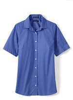 Classic Women's Regular Short Sleeve Broadcloth Shirt-Island Blue Whale