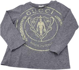 Gucci Grey Cotton Tops