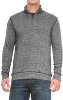 Vintage 1946 Marled Zip Neck Sweater (For Men)