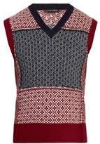 Alexander Mcqueen Sleeveless Wool And Cashmere-blend Sweater