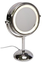 "Household Essentials Harry Koenig Chrome Lighted Mirror/ 7x - 8"" Round"