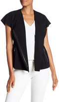 Laundry by Shelli Segal Cap Sleeve Moto Jacket