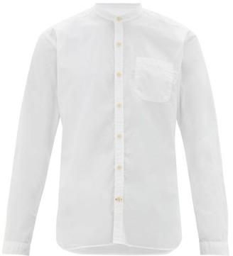 Oliver Spencer Grandad Mandarin-collar Organic-cotton Shirt - Mens - White