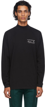 Martine Rose Black Mock Neck Long Sleeve T-Shirt