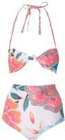 Mara Hoffman Arcadia Knit Bandeau High Waist Bikini