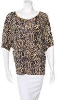 Dries Van Noten Leopard Print Short Sleeve Top