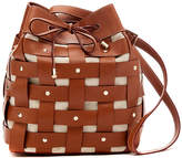 J.Mclaughlin Fae Lattice Weave Leather Bag