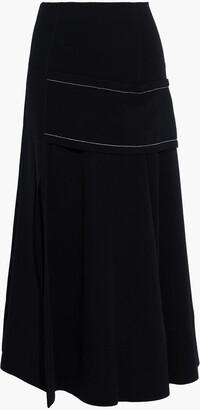 3.1 Phillip Lim Draped Crepe Midi Skirt