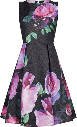 Yumi Jacquard Flower Dress