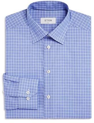 Eton Contemporary Windowpane Regular Fit Dress Shirt