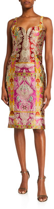 Etro Floral Tapestry Bustier Dress