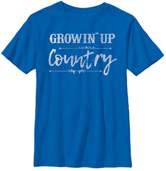 Fifth Sun Boys' Tee Shirts ROYAL - Royal 'Growin' Up Country' Tee - Boys