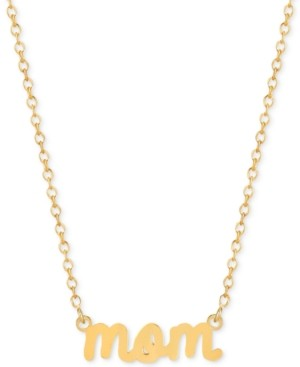 Sarah Chloe Mom Adjustable Pendant Necklace in 14k Gold-Plated Sterling Silver