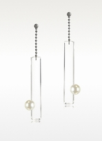 Maison Martin Margiela Lucite Earrings with Pearls