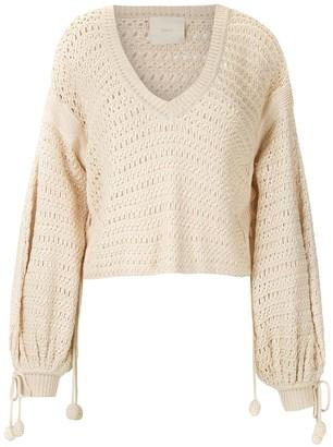 Framed Bonlier knitted crop top