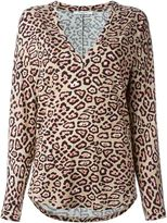 Givenchy leopard print T-shirt - women - Spandex/Elastane/Viscose - 36